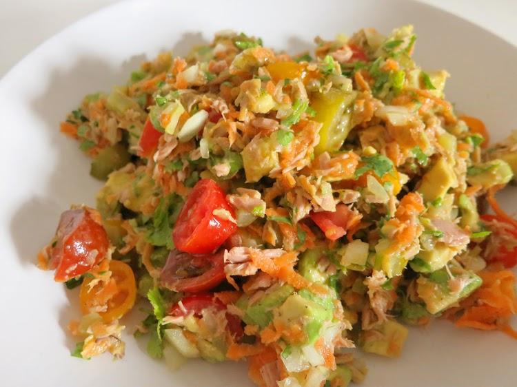 Salada de Atum e Abacate