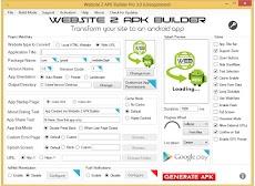 Cara Membuat / Mengkonvert Website atau Blog Menjadi Aplikasi di HP Android dengan Sofware Website 2 APK Builder Pro