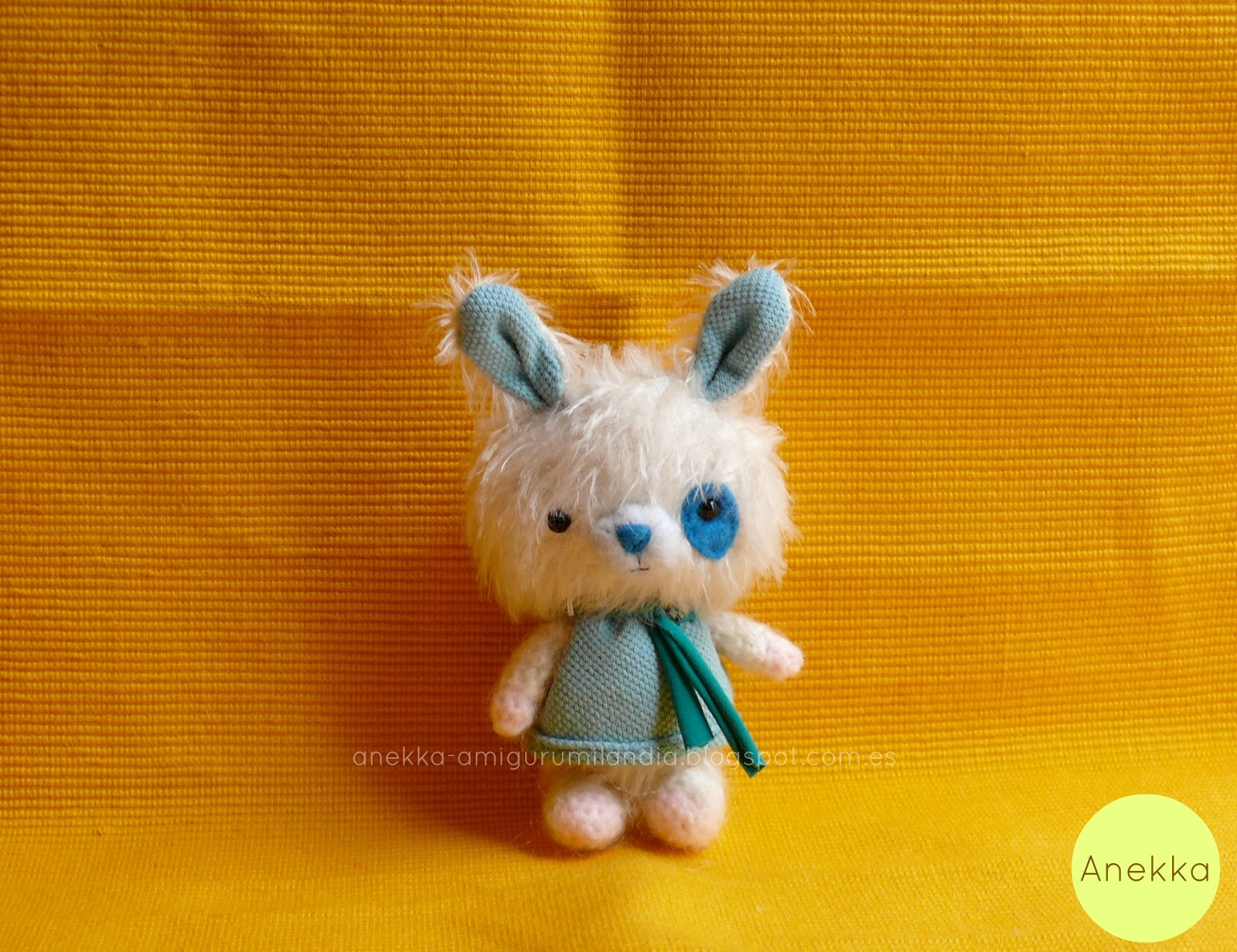 blue teddy bear mohair doll