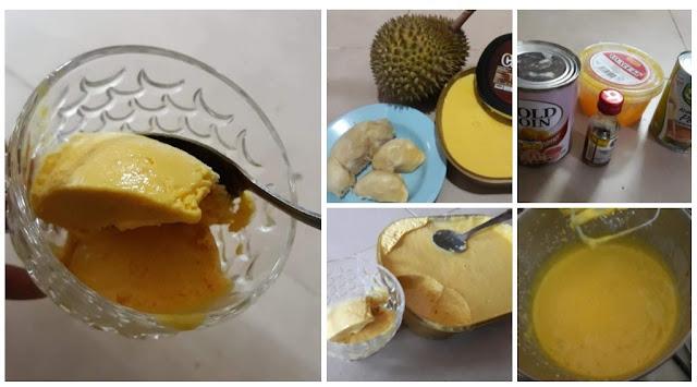 Resepi Aiskrim Durian Homemade Lemak Berkrim