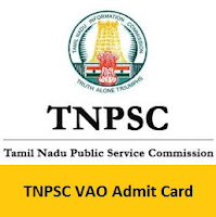 TNPSC VAO Admit Card
