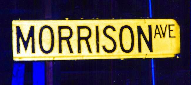 Morrison Ave street sign
