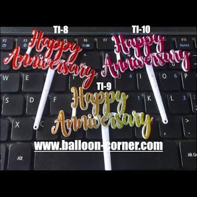 Cake Topper Acrylic Motif HAPPY ANNIVERSARY