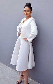 Rakul Preet Singh Stills in White Stylish Dress at International Phenomenon Sensation Press Meet  0042