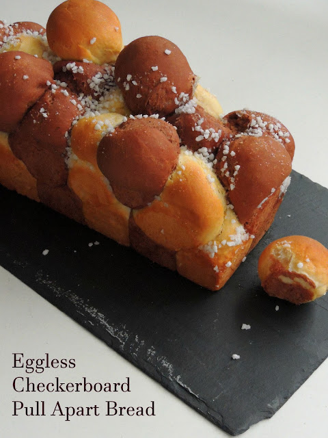 Eggless Checkerboard Pull Apart Bread with Tangzhong method