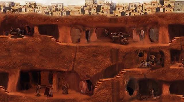 ciudad subterranea extraterrestre