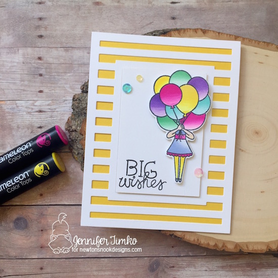Big Wishes Card by Jennifer Timko | Holding Happiness Stamp Set by Newton's Nook Designs #newtonsnook #handmade