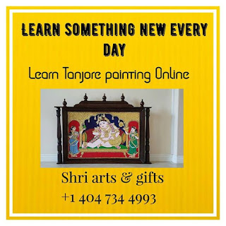 Online Tanjore painting classes USA