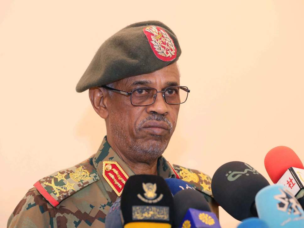<Sudan coup leader Awad Ibn Auf steps down