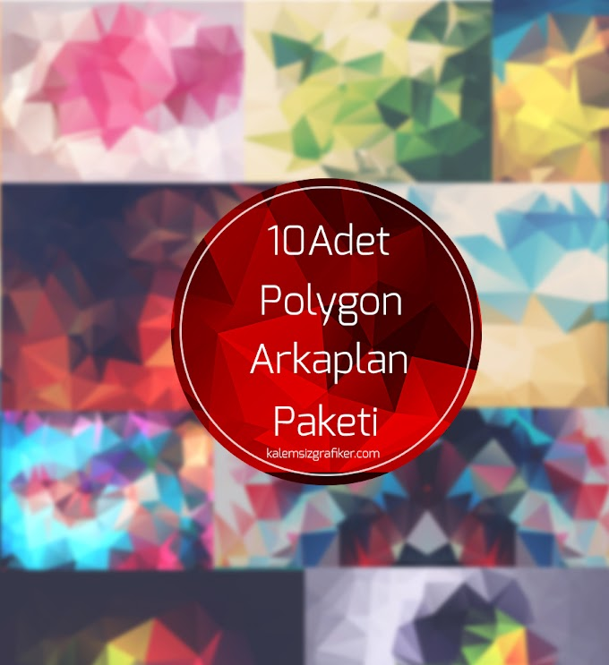 10 Adet Polygon Arkaplan Paketi #2