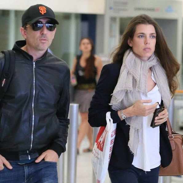 Charlotte Casiraghi and Gad Elmaleh were seen at the airport of Orly in Paris