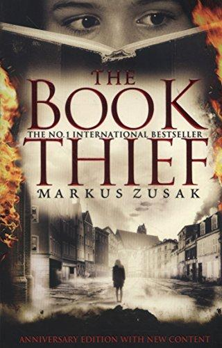 Book cover for Markus Zusak's The Book Thief in the South Manchester, Chorlton, and Didsbury book group