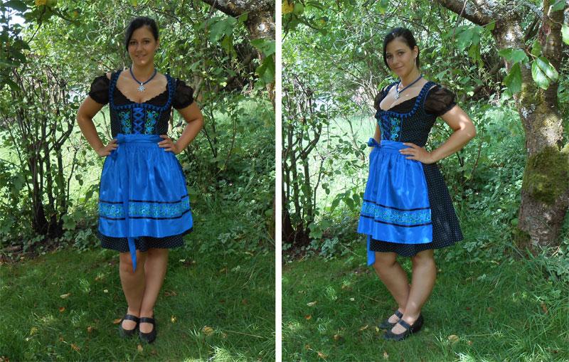 Blaues kleid mit leggings | Trendige Kleider für die ...