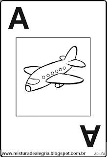 Baralho alfabético letra A