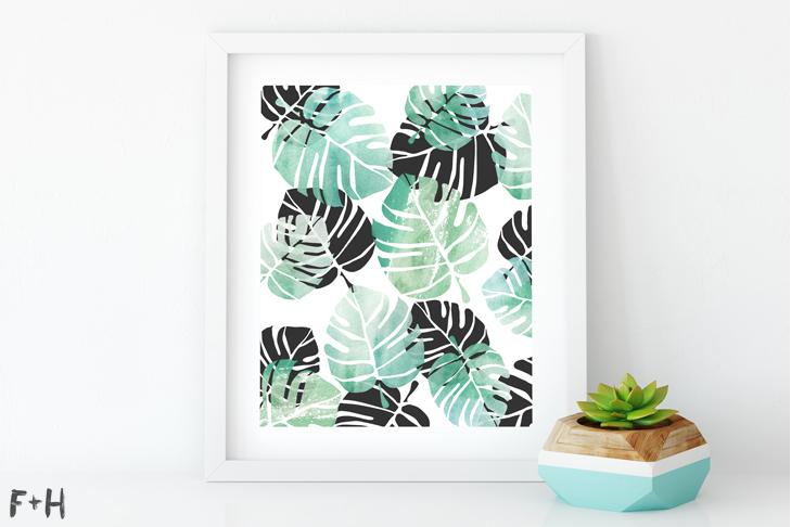 Free Palm Leaf Printable - Fox + Hazel