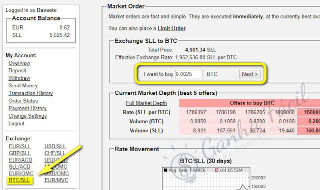 bitcoin sll second life lending troca exchange dinheiro money btc
