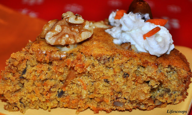 Life Scoops Low Fat Carrot And Dates Cake With Walnuts