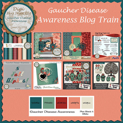 Digi Blog Train List Gaucher Disease Awareness Freebie