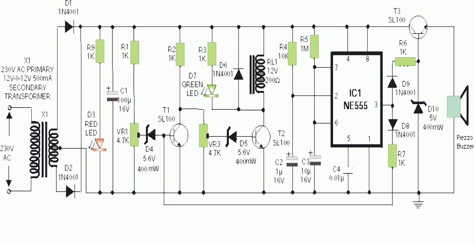 Simple Mains High Low Voltage Cut Off Circuit