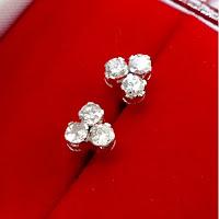 Jual Anting Berlian Ikat Emas Putih