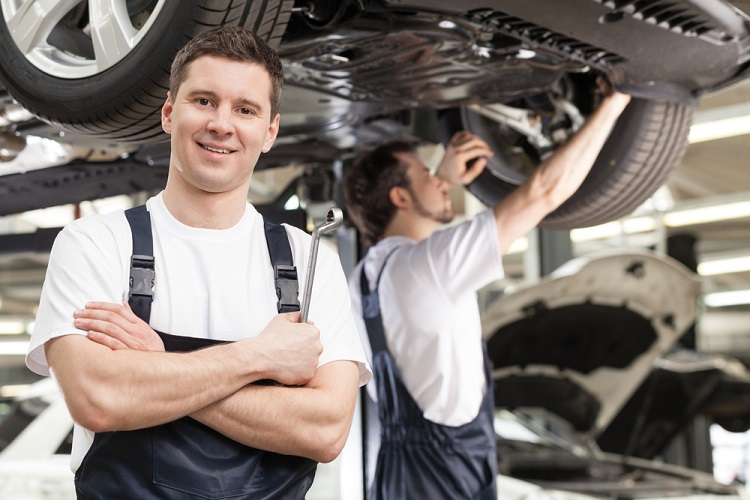 car servicing by mechanic