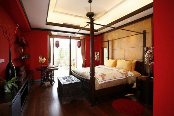 Red Bedroom Design Modern Decoration
