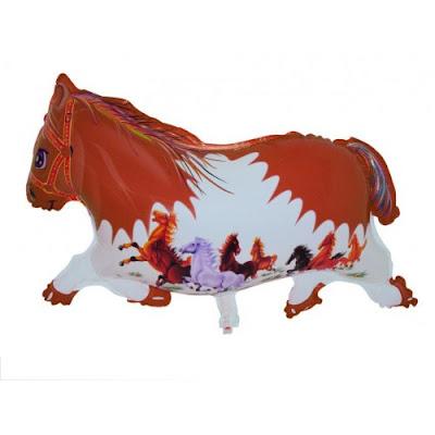 Balon Foil Karakter Kuda Coklat