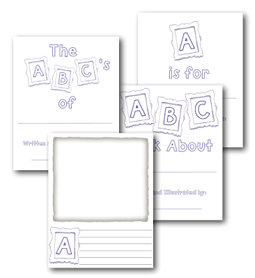 Classroom freebies alphabet book template for Printable alphabet book template