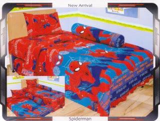 sprei internal motif Spiderman