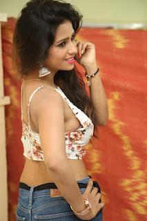 Deekshita Parvathi in a short crop top and Denim Jeans Spicy Pics Beautiful Actress Deekshita Parvathi January 2017 CelebxNext (63).JPG