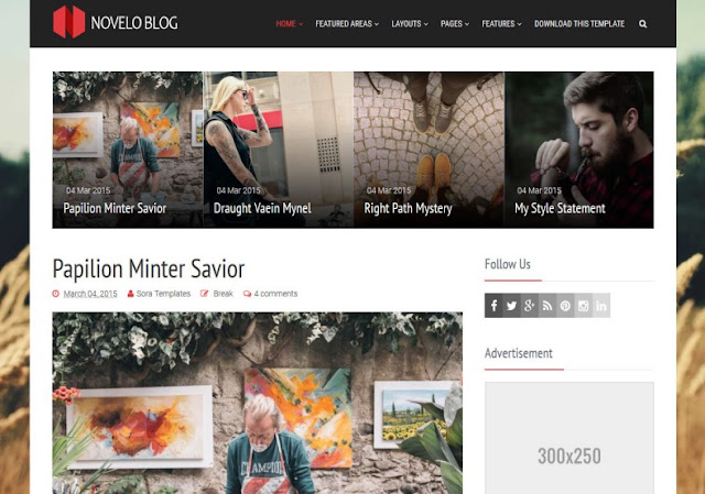 Novelo Blog Blogger Template