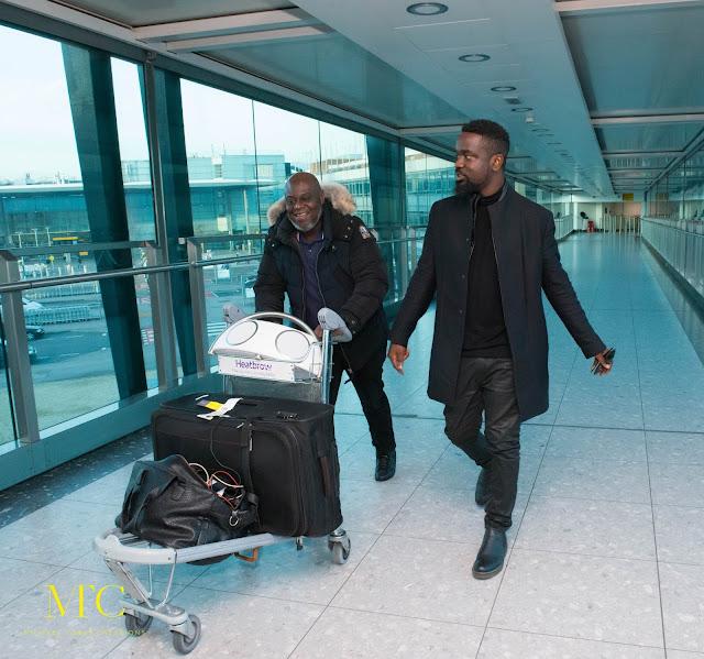 Sarkodie arrives London