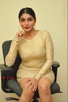 Actress Pooja Roshan Stills in Golden Short Dress at Box Movie Audio Launch  0079.JPG