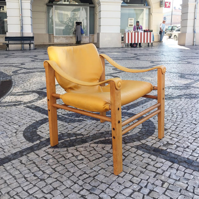 safari chair, maurice burke, anos 70, cadeirão, vintage, a Porta Verde
