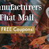 Manufacturers That Mail FREE Coupons