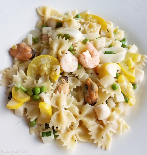 Seafood Pasta Primavera