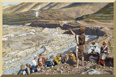 """Saint John the Baptist Sees Jesus from Afar"" -- by James Tissot.jpg"