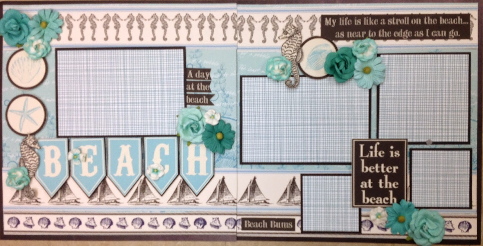 Beach scrapbook ideas layouts