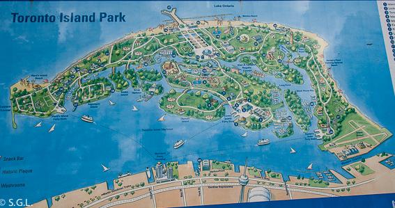 Mapa islas de Toronto, las mejores vistas del Skyline de la ciudad