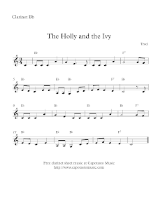 The Holly and the Ivy clarinet sheet music