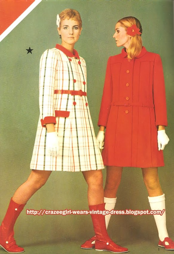 Courrèges coat - 1967 60s 1960 check plaid