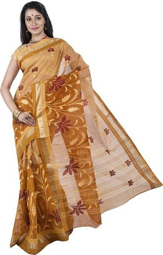 Embroidered Tant Saree