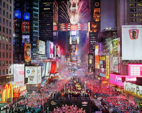 time square new york new year eve nouvel an veille