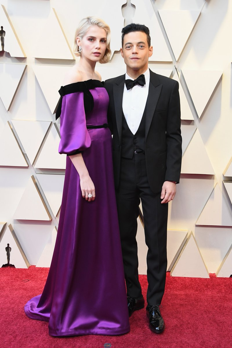 Rami Malek and Lucy Boynton hit the Oscars red carpet together to celebrate Bohemian Rhapsody tonight