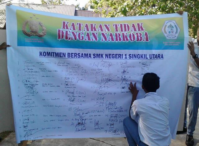 Polres Aceh Singkil dan 14 Sekolah Teken Komitmen