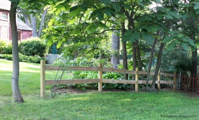 split rail fence in corner