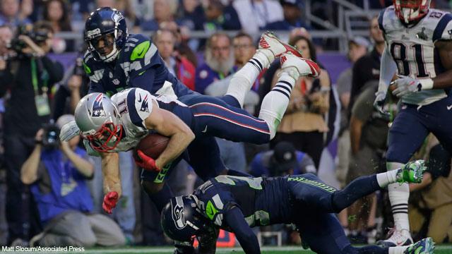 Patriotas de Nueva Inglaterra vs. Halcones Marinos de Seattle, en el Super Bowl XLIX 2015 | Ximinia