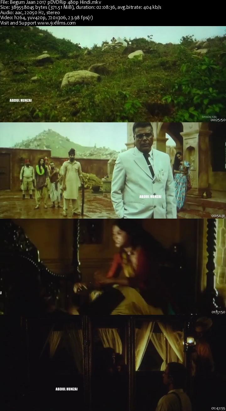 Begum Jaan 2017 pDVDRip 480p Hindi