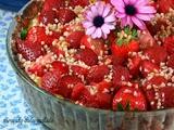 Tarta de Fresas con Crema Pastelera y Almendras