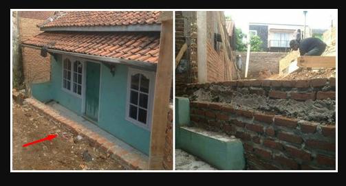 Tanpa Susukan Masuk Dan Keluar, Beginilah Nasib Rumah Pak Eko Sampai Harus Panjat Tembok